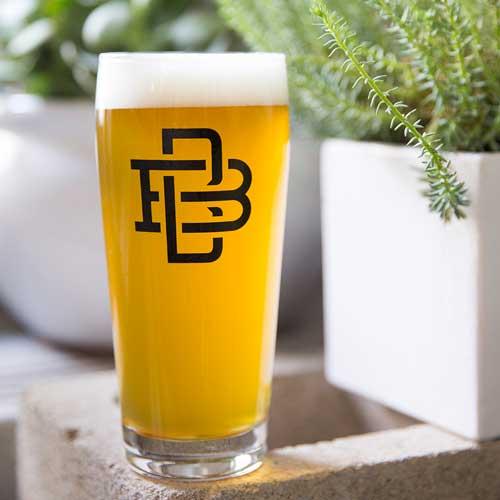 Crunchy LimeSkies hoppy Saison in a glass