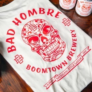 Bad Hombre white shirt with red print